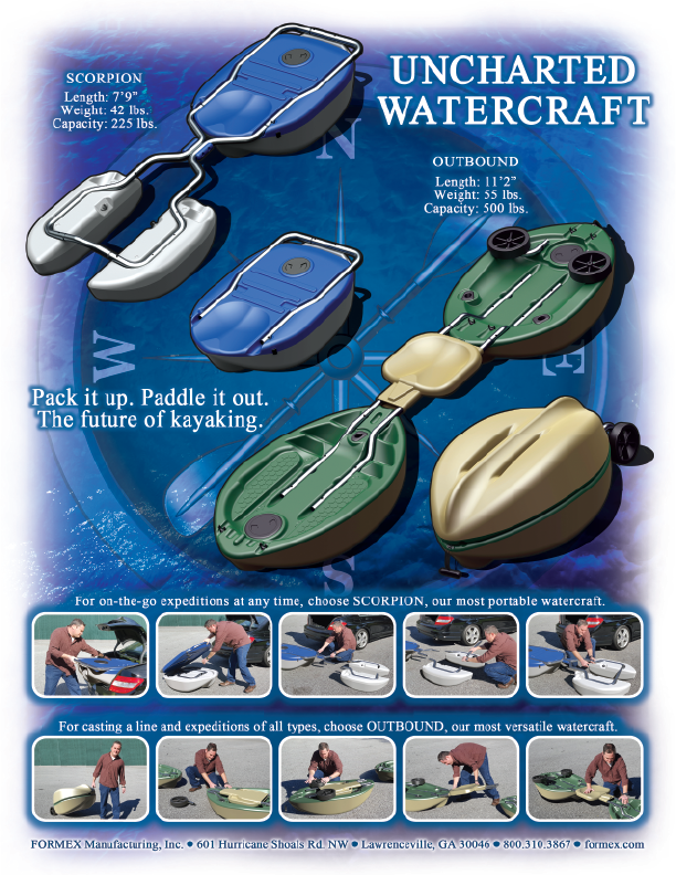 Uncharted Watercraft - Scorpion - Outbound - The future of kayaking.